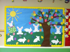 easter bulletin board idea 2