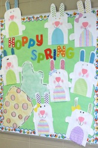 easter bulletin board idea for kids 1