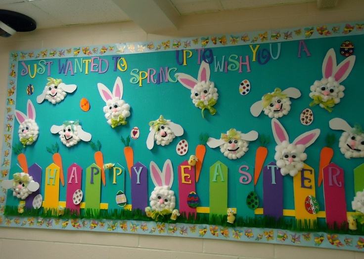 easter bulletin board idea for kids