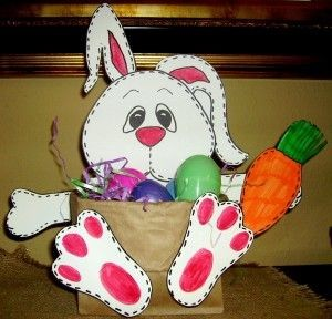 easter bunny basket craft (2)