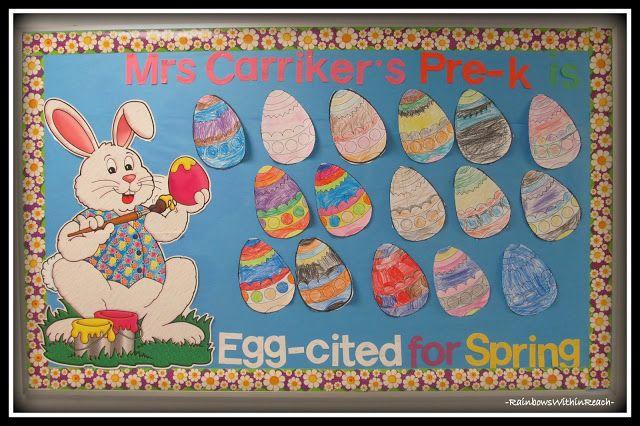 easter bunny bulletin board