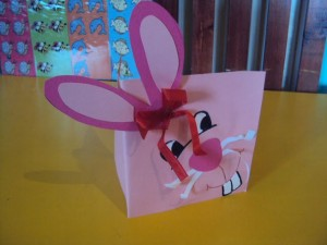 easter bunny card craft 7