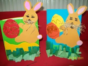 easter bunny card idea
