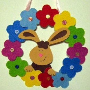 easter bunny wreath craft