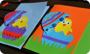 easter chick cards