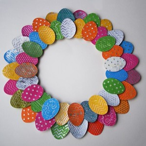easter egg wreath craft 1
