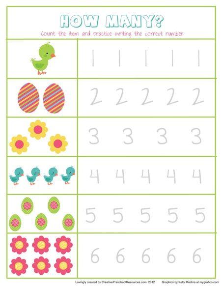 Kindergarten Worksheets Easter