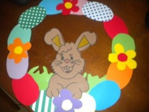 easter wreath craft 1
