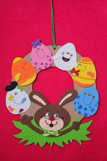 Easter Wreath Craft Idea For Kids Crafts And Worksheets