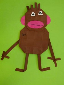 easy origami monkey craft