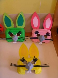egg carton eaaster bunny craft