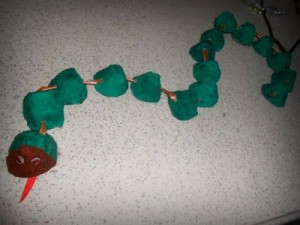egg carton snake craft