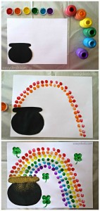 fingerprint rainbow craft