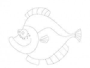 fish trace worksheet for kids