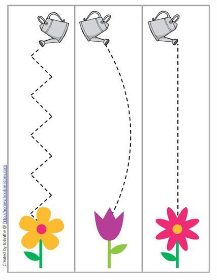 Flower_trace_worksheet Crafts And Worksheets For Preschool,Toddler And  Kindergarten