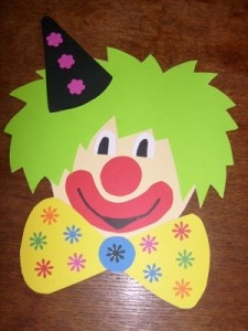 free clown craft idea for kids