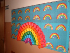 free rainbow craft