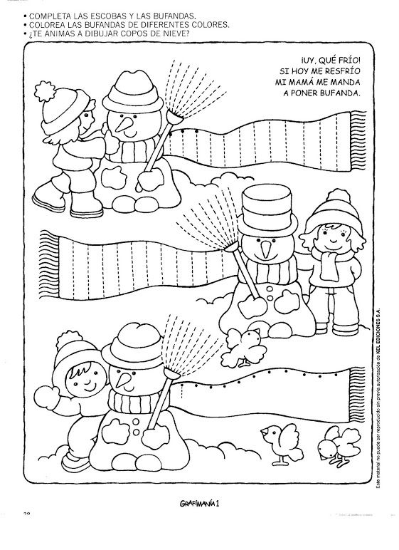 Winter worksheet for kids – Preschool Winter Worksheets