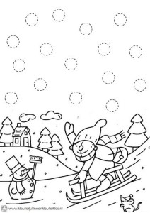 free winter trace worksheet for kids