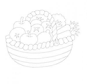 fruit basket trace worksheet