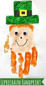 handprint St Patricks Day craft 1