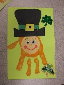 handprint St Patricks Day craft
