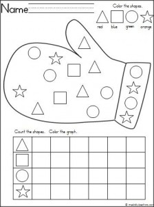 mitten shape worksheet