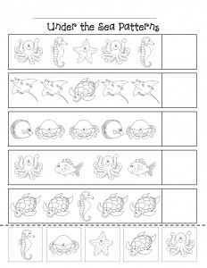 ocean animal worksheet (1)