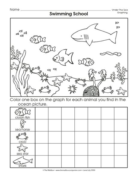 Ocean Animals Worksheets : Crafts actvities and worksheets for preschool toddler