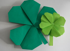 origami_shamrock_craft