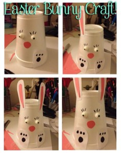 paper cup rabbit craft