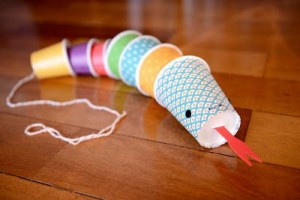 paper cup snake craft