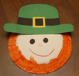paper plate St. Patrick's Day crafts