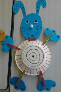 Easter bunny craft idea for kids crafts and worksheets - Bricolage avec des assiettes en carton ...