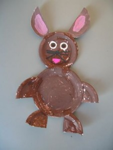 paper plate easter bunny craft idea for kids (1)