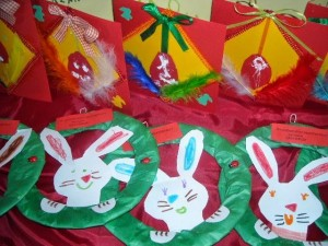 paper plate easter bunny craft idea for kids (2)