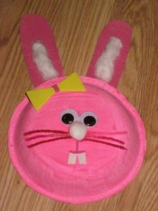 paper plate easter bunny craft idea for kids (4)