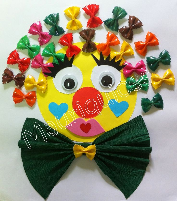 pasta clown craft