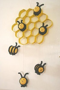 plastic egg bee craft