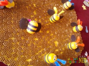 plastic egg bee craft idea for kids