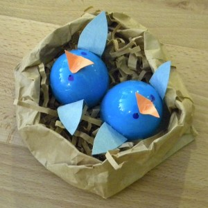 plastic egg bird craft
