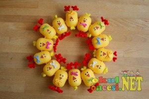 plastic egg chick crafts