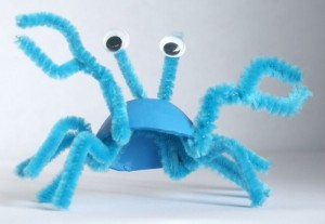 plastic egg crab craft