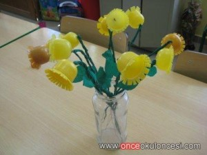 plastic egg flower craft