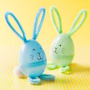 plastic eggs bunny