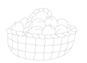 plum basket trace worksheet