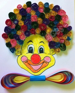quilling clown craft