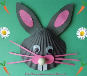 sea shell bunny craft