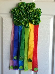 shamrock and rainbow craft