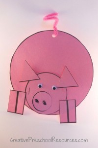 shape pig craft